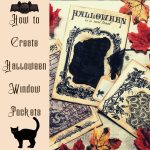 How to create Halloween Window Lace Pockets