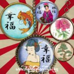 Asian Love 1 Inch Round Images