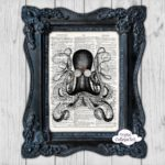 Steampunk Octopus Wall Art Print