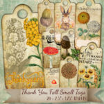 thank you fall small tag cover