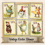 vintage easter stamps cover